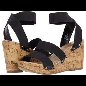Esprit Women's Freedom Cork Black Wedge Sandal